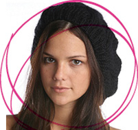 how to wear a beret with bangs