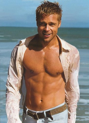 brad pitt hot body. Rugged good looks and a hard body are fascinating,