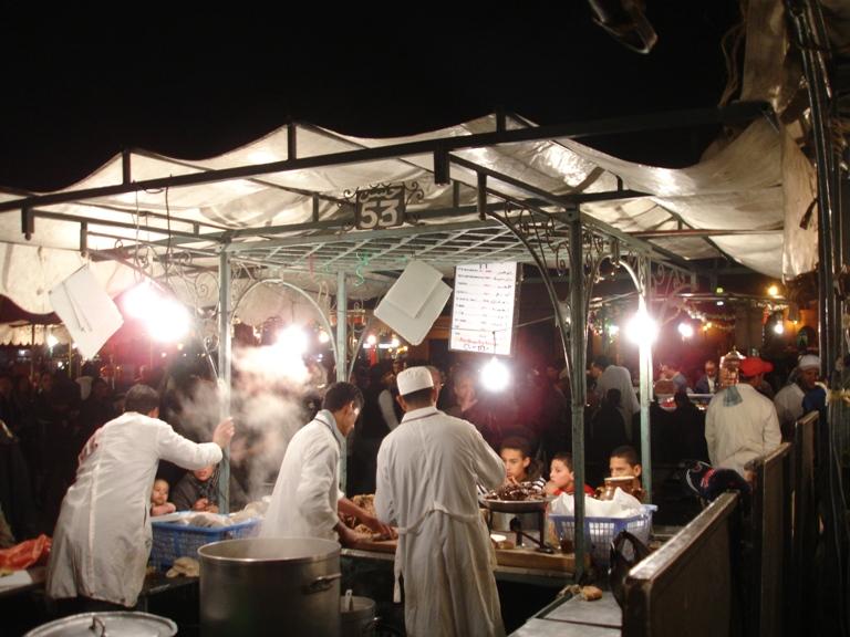 2008-02-11-MarrakeshNightFoodStalls.JPG