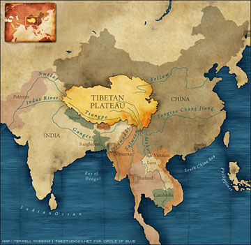 Tibet Map Sml on Nepal Location On World Map