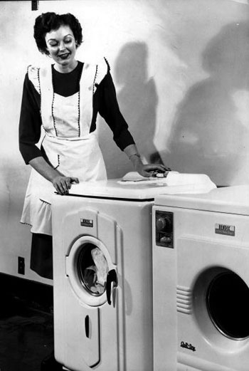 woman with dryer photo