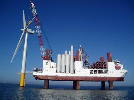 Offshore wind turbine photo