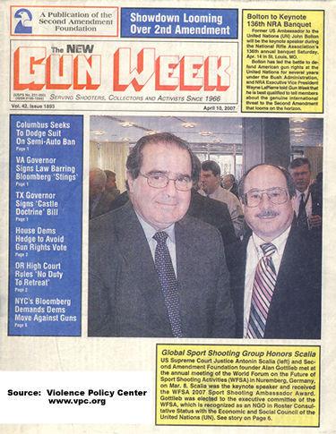 Supreme Court Justice/Gun Nut Anton Scalia