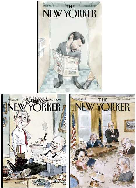 Philosophy blog: New Yorker cover cartoon Obama Blitt Barry Barack Michelle terrorists