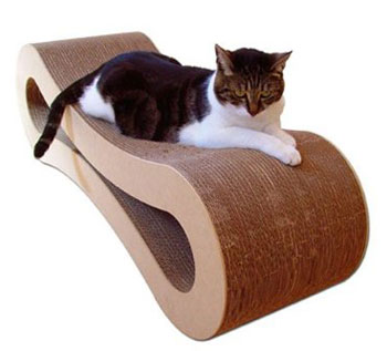 Recycled Sweet Lounge Rounded Cat Scratcher
