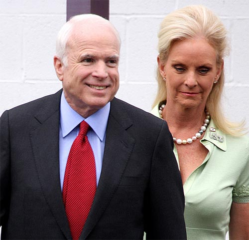 Cindy Hensley Mccain: Dear Cindy McCain, Please Pull Up Your Shirt And Tie Back