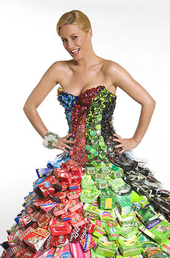 recycled bottle dress Gary Harvey photo