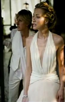 Ellen And Portia Wedding.Ellen Portia S Wedding Photos Video Huffpost