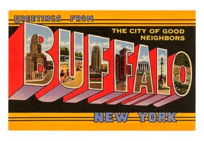 buffalo postcard image