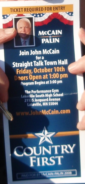 2008-10-13-PeaceticketrequiredatMcCain.JPG