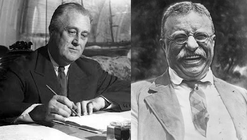 teddy and franklin roosevelt image