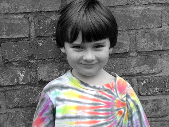 tye die shirt boy photo