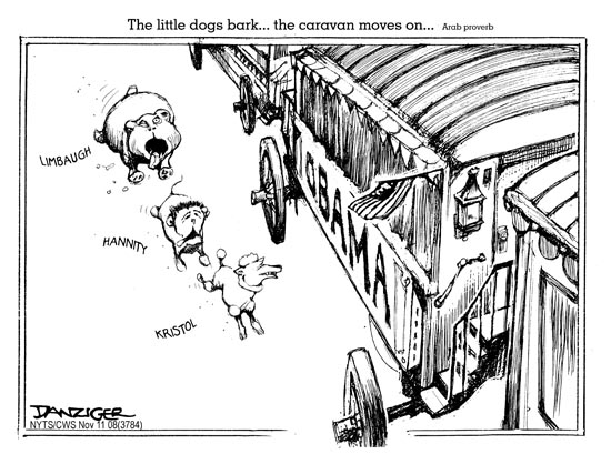 The Dog Barks And The Caravan Moves On