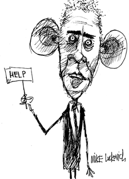 Luckovich's Lament: Cartooning Obama Is Gonna Be Tough ...