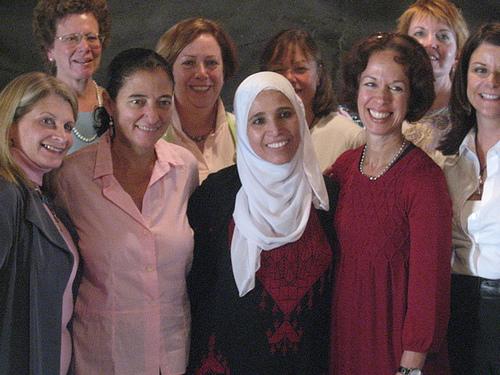 project interchange hosts women leaders from US in Bedouin Village of Lakia tent photo