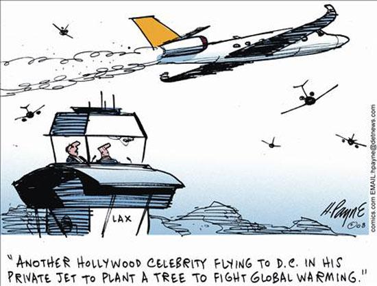 global warming celebrity jet photo
