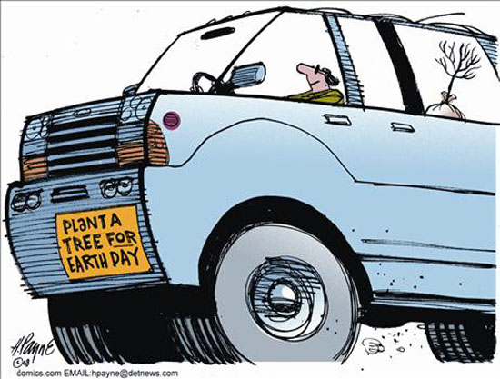 gas tree suv comic photo