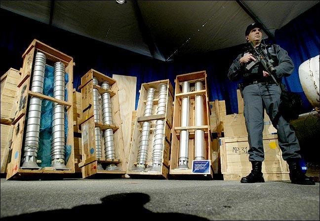 Centrifuges Seized from Libya
