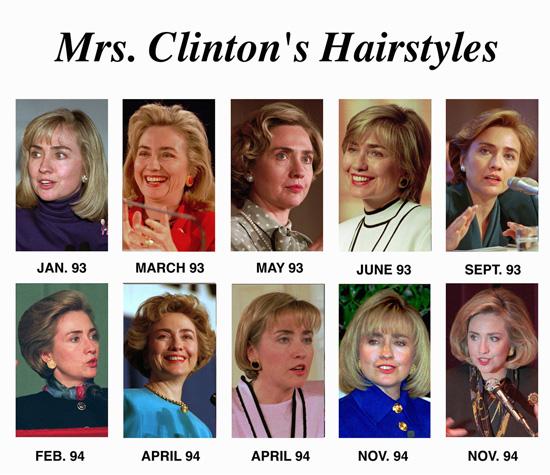 hillary clinton s hair style