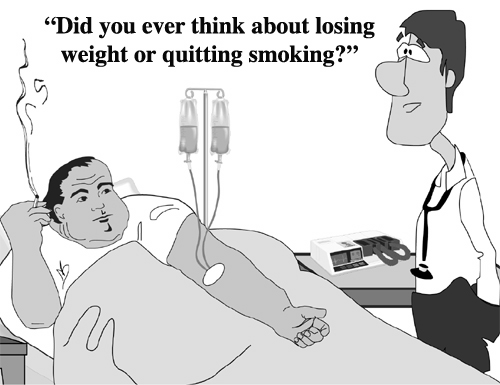 When you smoke cigarettes or weigh 400 pounds, you choose to make more