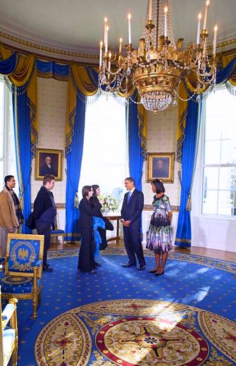 White House Obama Blue Room Chandelier Crystal Empire