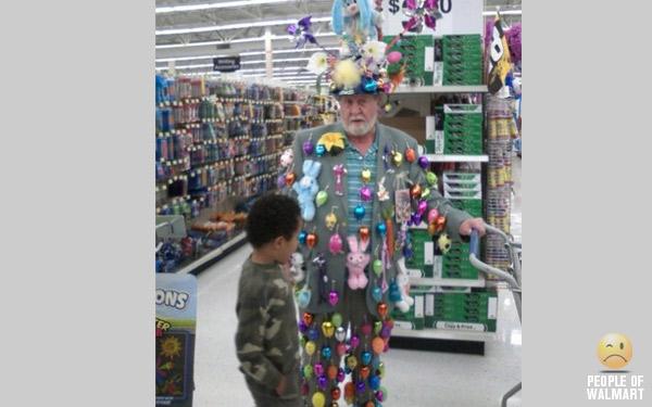 People of walmart site mocks store 39 s worst dressed for Easter tattoos walmart