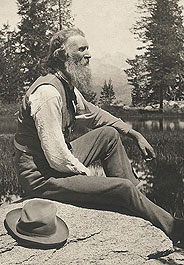 John Muir in Yosemite National Park, circa 1902 Photo source John Muir Papers, University of the Pacific Library