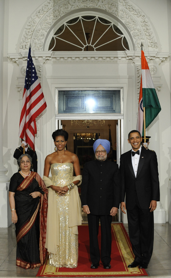 Michelle and Barack Obama at India State Dinner