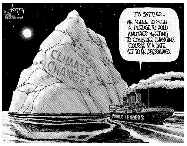 Actually, with global warming, icebergs such as these will be nonexistent! Problem solved!