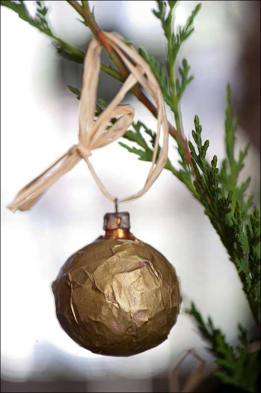Natural Home And Michelle Obama Love Decoupage Ornaments