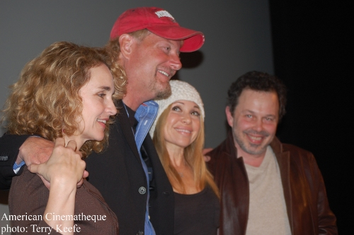 Diane Franklin, Savage Steve Holland, Elizabeth Daily and Curtis Armstrong.