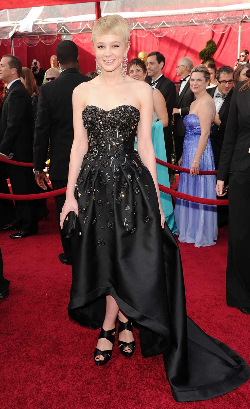 Carey Mulligan Oscars 2010 Bejeweled In Black Photo