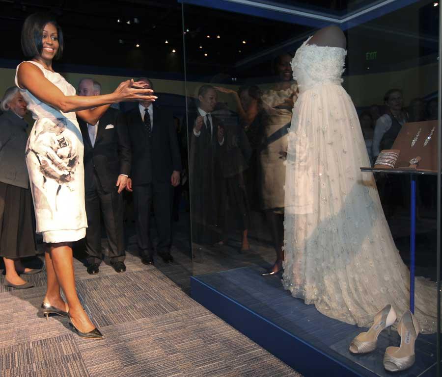Michelle Obama Inauguration Dress Smithsonian First Lady Jason Wu