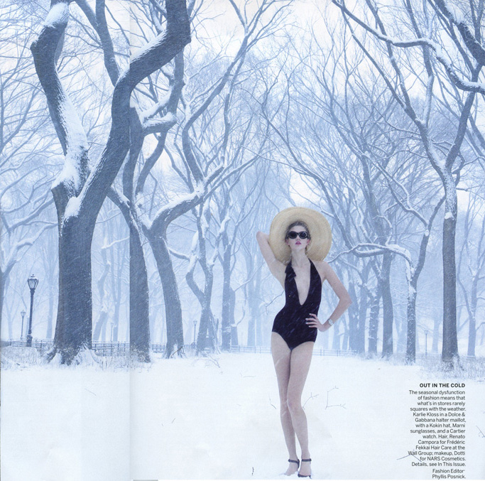 Karlie Kloss's Swimsuit Shoot In The Middle Of A Blizzard ...