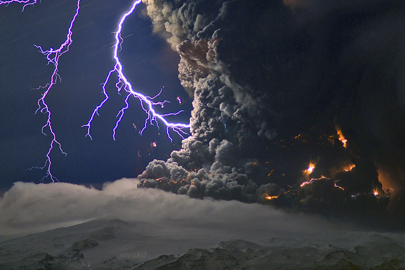 Icelandic volcanic eruption