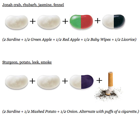 Jelly Belly Combinations Chart