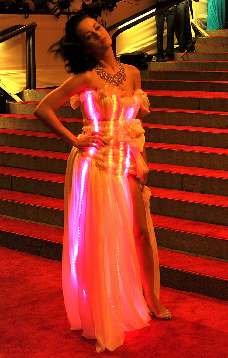 Katy Perry Met Costume Institute Gala 2010 Flashing