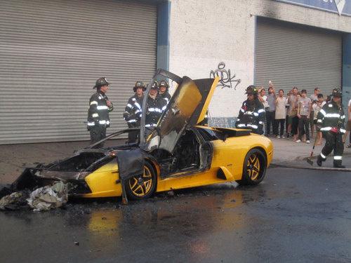 Lamborghini Murcielago Burns 350 000 Car Torched In