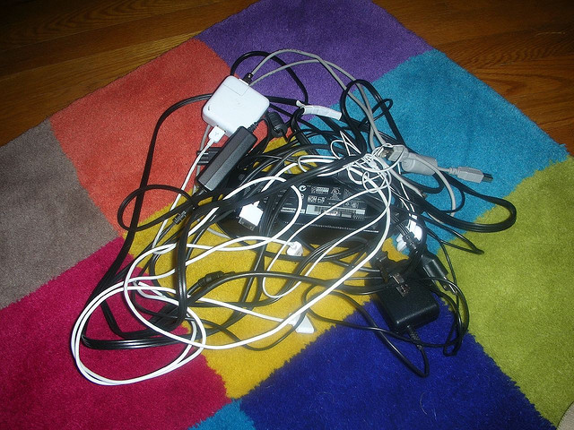 Cords can be a mess