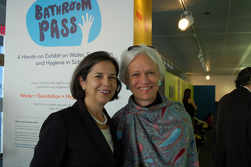 Under Secretary of State for Democracy and Global Affairs Maria Otero and Ambassador Hattie Babbitt (c) Elynn Walter
