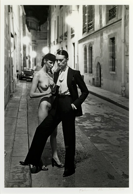 Helmut Newton, Rue Aubroit, Fashion Model & Nude, 1975.