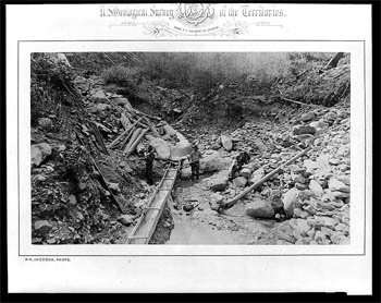 Gold miners (W.H. Jackson, photographer, USGS/Library of Congress/The Evolution of the Conservation Movement, 1850-1920)