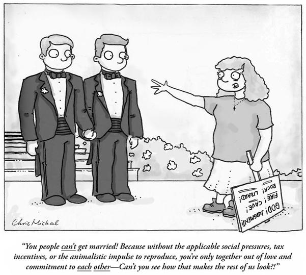 Homosexual marriage jokes cartoons