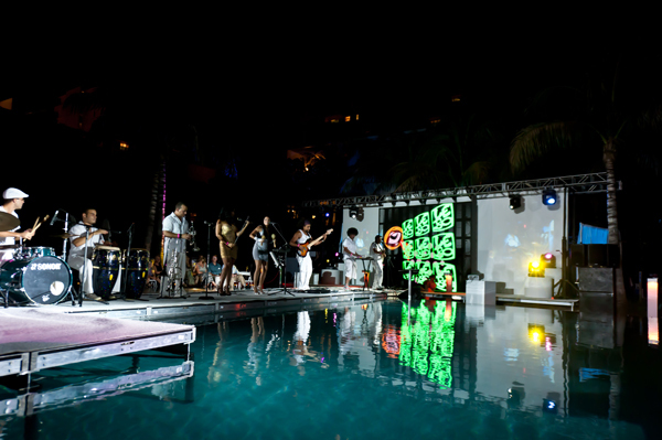 Salon allure where art music fashion collide in south for Pool fashion show