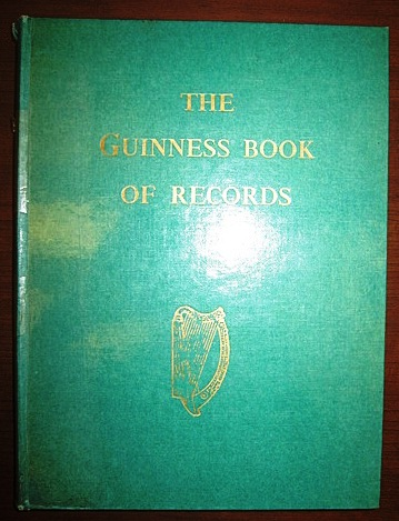 First guinness world record book