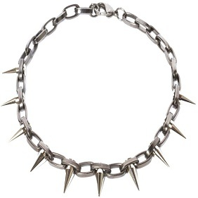 2011-10-13-NYLA_Boutique_Chain_choker_single_row_spikes_Matte_Gunmetal_necklace_jewellery_luxury_punk.jpg