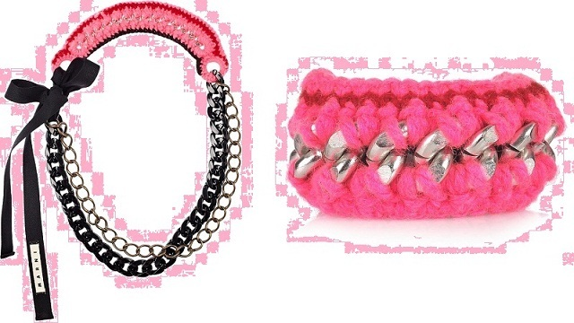 2011-11-04-1_Marni_Knitted_wool_brass_chain_necklace_bracelet_accessories_exclusive_NETAPORTER_pink_and_red.jpg