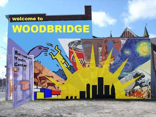 Making of a mural welcome to woodbridge huffpost for Community mural ideas