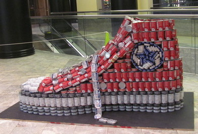 Canstruction raises 70 000 pounds of canned goods huffpost for West out of best project