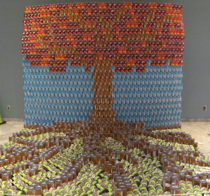 canstruction raises 70 000 pounds of canned goods huffpost